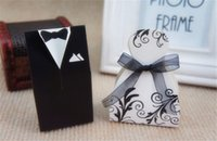 Wholesale Hot Candy Box Bride Groom Wedding Bridal Favor Gift Boxes Gown Tuxedo