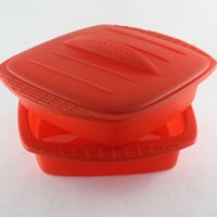 baking pan lid - Silicone bakeware exported to Japan square baking mold cake pan with lid inner diameter of cm
