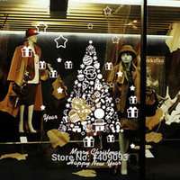 american christmas store - Creative Design Wall Sticker Christmas Decoration Tree Lovely Room Decals Store Window Decor Vinyl Mural Art