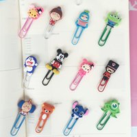 Wholesale 4pcs a set paperclips creative bookmarks cartoon coloured drawing animals for