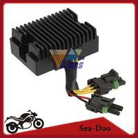Wholesale 12v Sea doo Regulator Rectifier Black Motorcycle ATV bike Voltage Rectifier For Sportster GSX GTI GTX DI cc order lt no track