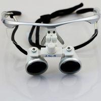 Cheap 2PCS Silver Frame 2.5 3.5X420mm Dental Binocular Loupes Surgical Medical Loupes Optical Medical Magnifiers CV-292