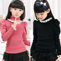 Wholesale Baby Clothes Kids Clothes Kids Clothing Korean Turtleneck Red Pink Black Color Wool Blends Suits Hot sale