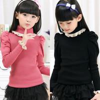Wholesale Baby Clothes Kids Clothes Kids Clothing Korean Turtleneck Red Pink Black Color Wool Blends Suits Hot sale