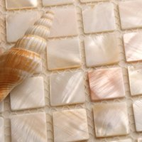 Wholesale GM16 Quality eco friendly natural shell tv background tile wall stickers mosaic