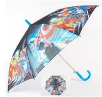 Wholesale Avengers Figure Handle Rain and Sun Proof Children Umbrella Children s Rain Gear Marvel s The Avengers cartoon long umbrella