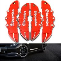 caliper disc brake - 4pcs D Red Brembo Style Universal Disc Brake Caliper Cover Front Rear car Brake Systems