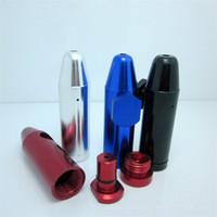 Nbullet metal de aluminio tabaco snorter tubo de fumar shisha hookah regalo molinillo de caja de la máquina rodando vidrio de papel pipa vaporizador píldora DHL libre