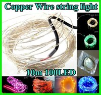 wire tree - 10M LED LED Copper Wire string light lighting Fairy Party Wedding Christmas Flashing LED strip strips multi color For Christmas tree