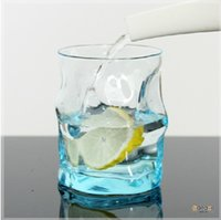 beers of europe - Italy wavy blue transparent glass juice cups cup couple cups of creative color