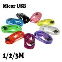 Cheap 100CM Cable for Samsung Best Colorful for samsung HTC Nokia Andiord system Micro USB Charger Cable