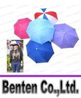 umbrella hat - 2015 Hot styles folding camping hunting fishing golf cap hat sun umbrella Brolly LLFA3127F