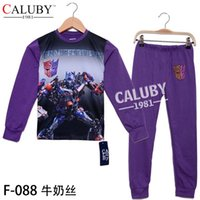 Wholesale Frozen Cartoon Long Sleeve Boys Pajamas Children Cartoon Pyjamas Sleepwears sets For Big Boy Y In Stock