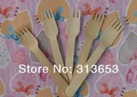 bbq dessert - high quality new arrival wooden dessert Fork mm BBQ accessories