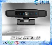 Wholesale Top Selling HD5 Full HD P Android Smart TV Box Allwinner Quad Core Media Player Built in Mega Pixels Camera