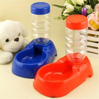 Wholesale 500ML Pet Puppy Dog Cat Plastic Bowl Automatic Bottle Water Drinking Dispenser Feeder Dual Dish Fountain Utensils