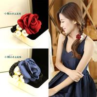 Pequeña calle horquilla hecha a mano arco accesorios para el cabello horquilla cabeza flor joyas auténtico tocado coreano aleteo
