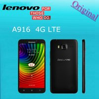 android lenovo - 4G FDD LTE Dual Sim card Lenovo A916 phone Octa Core MTK6592 cell phones G ROM x720