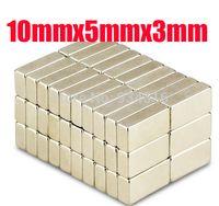 Forte de bloc Aimants 10mm de 10 * 5 * 3 aimant n52 x 5mm x 3mm Rare Earth aimants néodyme N35 livraison gratuite