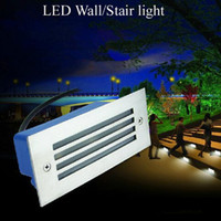 Wholesale Outdoor Indoor Led Stair Light W Led Wall Lamp Night Light Led Step Light Recessed Floor Light V V Waterproof Recessed Floor Light