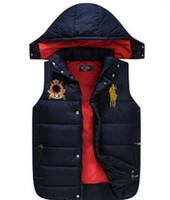 Wholesale New Brand Men Women Warm Winter Waistcoat Waistcoat Outwear Down Vest Jacket with Hooded Thick polo Sleeveless Coat For Man Vest