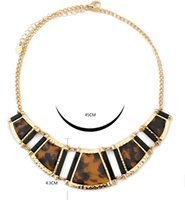 Wholesale necklace alloy beauty women leopard fashion hot
