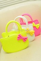 Cheap Fashion Hot Ice Cream Colors Designer Small Tote With Scarf for Girls Kids with PU Leather Handbag Children Bags