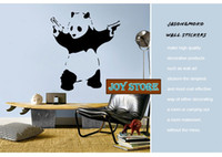 banksy sticker - New removable vinyl Wall Stickers Banksy Vinyl Wall Decal Panda Wall Art Home decoration Wall Decal CM