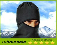Wholesale 2014 New Outdoor Special Catch Balaclavas Sports Caps Masks Scarf CS Warm Windproof Hat Visor Bike Skiing Face Protection Cycling Caps