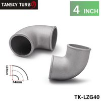 Wholesale Tansky High Quality mm quot Cast Aluminum Elbow Degree Pipe Turbo Intercooler Universal in stock TK LZG40