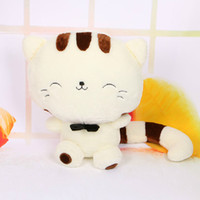 Wholesale CM Include Tail Cute large face cat Plush Stuffed Toys pillow birthday gift Cushion Fortune Cat Doll