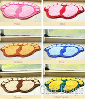 Wholesale Fashion Cute Footprints Big Feet Bath Mat Door Mats On Foot Pad Rug Household itemst at the door mat carpet floor