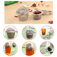 Metal accessories spheres - New Tea Infuser Stainless Steel Tea Pot Set Infuser Sphere Mesh Tea Strainer Handle Tea Ball Teapot Accessories H16617