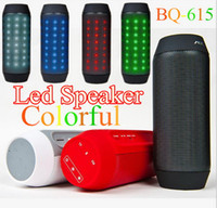 Wholesale New AEC BQ Mini Speaker LED Light Adjustable Wireless Bluetooth Stero HiFi Hands free Outdoor Sports Subwoofer FM Radio TF HandsFree