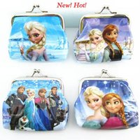 fashion pvc purse - New Fashion Frozen Coin Wallet Purse With Iron Button Fashion Cartoon Frozen Anna Elsa Olaf PVC Money Bag Waterproof Pocket Bag