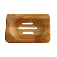 Wholesale Hot Bathroom Natural Bamboo Wood Storage Holder Bath Shower Plate Soap Dish