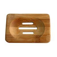 Wholesale Hot Bathroom Natural Bamboo Wood Storage Holder Bath Shower Plate Soap Dish