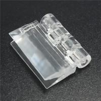 acrylic door knobs - 10pcs Organic Glass Acrylic Hinge Transparent Organic Glass Doors and for Windows PMMA Acrylic Folding Hinge x25 order lt no track