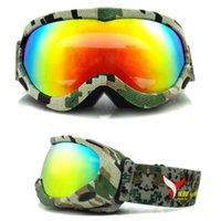 Wholesale New Kids Snowboard goggles Spherical Snowboard Goggles Anti fog Old Children Ski Goggles UV Ski Snowboard Sports Eyewear