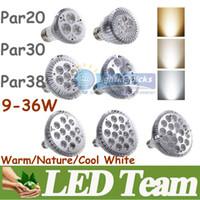 Wholesale Ultra Bright CREE E26 E27 Dimmable PAR20 PAR30 PAR38 LED Light Bulb Lamp V W W Warm Cool Nature White Led Spotlight Angle CE