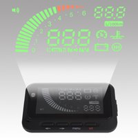 Wholesale car Mini Vehicle mounted HUD System Speed Head Up Display For Automobile Security With Current Indication Water Temperature Alarm