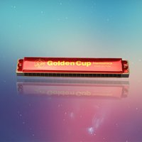 Wholesale The quot golden cup quot hole C aluminum harmonica factory sales