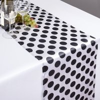 Wholesale and custom in satin print table runner any color any size direct from factory banquet table cloths per