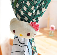 Wholesale 1 Pair Cute Hello Kitty Curtain buckle Curtain tie line with Curtain Poles Tracks Accessories
