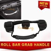 adjustable grab bars - New Roll Bar Grab Handle for Jeep Wrangler with quot or quot Black Adjustable Deluxe handles