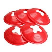 Wholesale Set of cm Space Marker Cone Discs Training Cone Sports Marker Cone Landmark Red H1E1