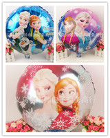 air free decorations - DHL free inch frozen balloons new cartoon frozen anna elsa Toys Christmas Birthday Wedding Decoration Party inflatable air balloon D1997
