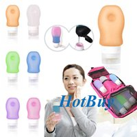 shower gel - Silicone Gel Refillable Cosmetic liquid Shampoo Skin Cream Lotion Shower Bottles