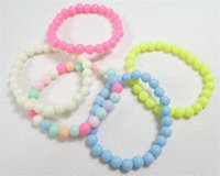 Wholesale 2016 Hot Sale Colorful beads Bracelets for kids children bead bracelet multicolor beads girls kids gift sales promotion B0186