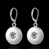 Wholesale New Round Noosa Chunk button Earrings Interchangeable hot sale diy Dangle Chandelier for women